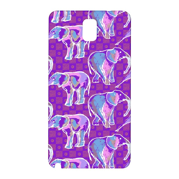 Cute Violet Elephants Pattern Samsung Galaxy Note 3 N9005 Hardshell Back Case
