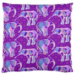 Cute Violet Elephants Pattern Standard Flano Cushion Case (One Side) Front