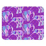 Cute Violet Elephants Pattern Double Sided Flano Blanket (Large)  80 x60 Blanket Front