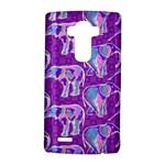Cute Violet Elephants Pattern LG G4 Hardshell Case