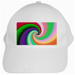Colorful Spiral Dragon Scales   White Cap
