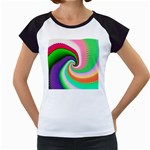 Colorful Spiral Dragon Scales   Women s Cap Sleeve T