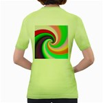 Colorful Spiral Dragon Scales   Women s Green T-Shirt Back