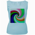 Colorful Spiral Dragon Scales   Women s Baby Blue Tank Top