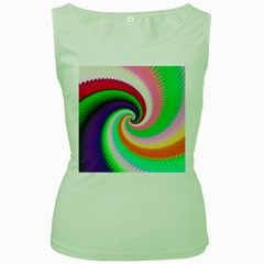 Colorful Spiral Dragon Scales   Women s Green Tank Top by designworld65