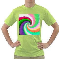 Colorful Spiral Dragon Scales   Green T Shirt