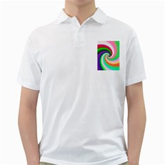 Colorful Spiral Dragon Scales   Golf Shirts by designworld65