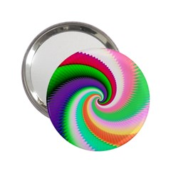 Colorful Spiral Dragon Scales   2 25  Handbag Mirrors by designworld65