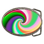 Colorful Spiral Dragon Scales   Belt Buckles Front