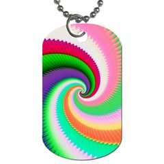 Colorful Spiral Dragon Scales   Dog Tag (two Sides) by designworld65