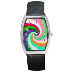 Colorful Spiral Dragon Scales   Barrel Style Metal Watch by designworld65