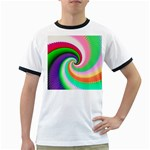 Colorful Spiral Dragon Scales   Ringer T-Shirts