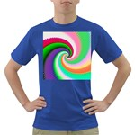 Colorful Spiral Dragon Scales   Dark T-Shirt