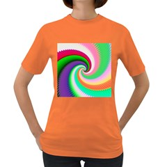 Colorful Spiral Dragon Scales   Women s Dark T Shirt