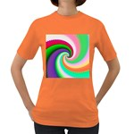 Colorful Spiral Dragon Scales   Women s Dark T-Shirt Front