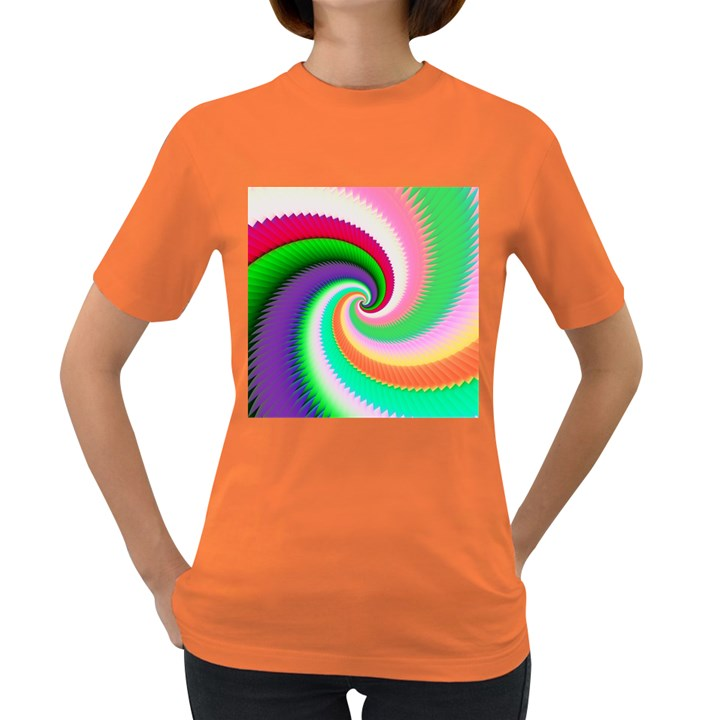 Colorful Spiral Dragon Scales   Women s Dark T-Shirt