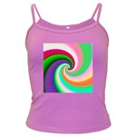 Colorful Spiral Dragon Scales   Dark Spaghetti Tank Front