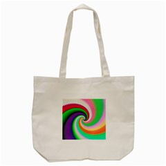 Colorful Spiral Dragon Scales   Tote Bag (cream) by designworld65