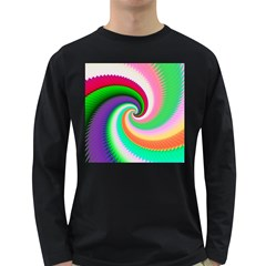Colorful Spiral Dragon Scales   Long Sleeve Dark T Shirts