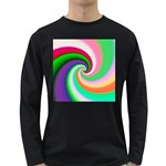 Colorful Spiral Dragon Scales   Long Sleeve Dark T-Shirts
