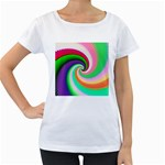 Colorful Spiral Dragon Scales   Women s Loose-Fit T-Shirt (White)