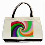Colorful Spiral Dragon Scales   Basic Tote Bag