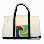 Colorful Spiral Dragon Scales   Two Tone Tote Bag