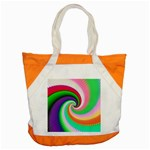 Colorful Spiral Dragon Scales   Accent Tote Bag