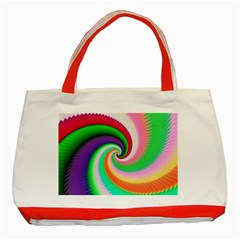 Colorful Spiral Dragon Scales   Classic Tote Bag (red) by designworld65