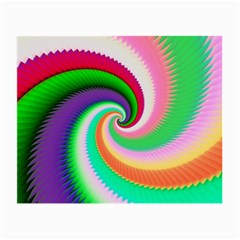Colorful Spiral Dragon Scales   Small Glasses Cloth (2 Side)