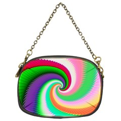 Colorful Spiral Dragon Scales   Chain Purses (two Sides)  by designworld65
