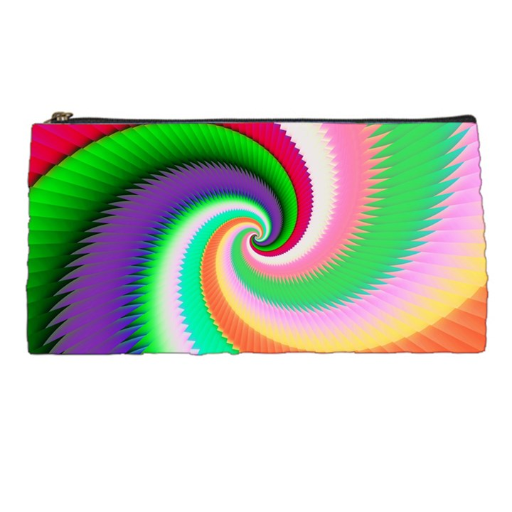 Colorful Spiral Dragon Scales   Pencil Cases