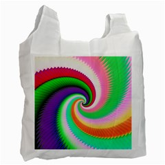 Colorful Spiral Dragon Scales   Recycle Bag (one Side) by designworld65