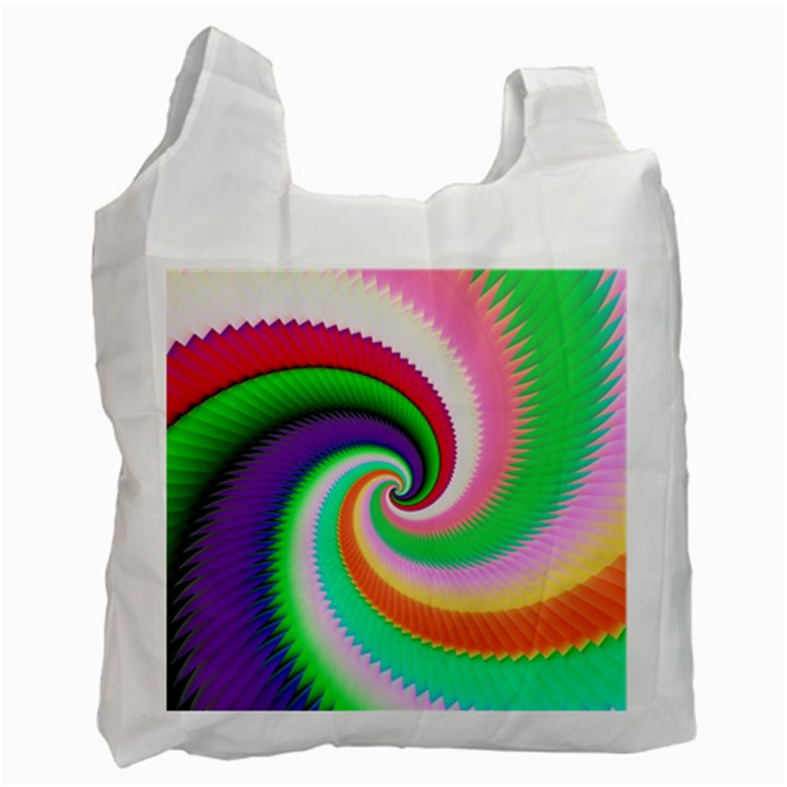 Colorful Spiral Dragon Scales   Recycle Bag (Two Side)
