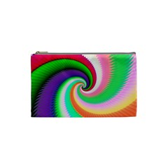 Colorful Spiral Dragon Scales   Cosmetic Bag (small)