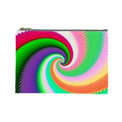 Colorful Spiral Dragon Scales   Cosmetic Bag (large)  by designworld65