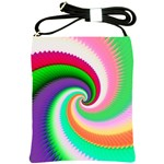 Colorful Spiral Dragon Scales   Shoulder Sling Bags Front