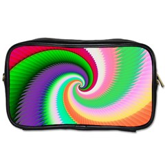 Colorful Spiral Dragon Scales   Toiletries Bags