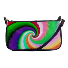 Colorful Spiral Dragon Scales   Shoulder Clutch Bags
