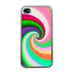 Colorful Spiral Dragon Scales   Apple iPhone 4 Case (Clear) Front