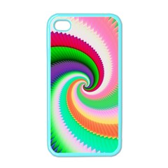 Colorful Spiral Dragon Scales   Apple Iphone 4 Case (color) by designworld65