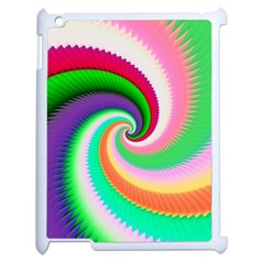 Colorful Spiral Dragon Scales   Apple Ipad 2 Case (white) by designworld65