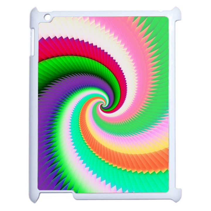 Colorful Spiral Dragon Scales   Apple iPad 2 Case (White)