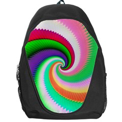 Colorful Spiral Dragon Scales   Backpack Bag