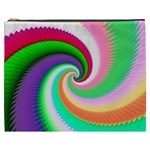 Colorful Spiral Dragon Scales   Cosmetic Bag (XXXL)  Front