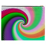 Colorful Spiral Dragon Scales   Cosmetic Bag (XXXL)  Back