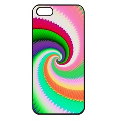 Colorful Spiral Dragon Scales   Apple Iphone 5 Seamless Case (black) by designworld65