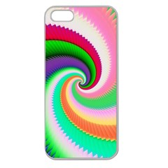 Colorful Spiral Dragon Scales   Apple Seamless Iphone 5 Case (clear) by designworld65