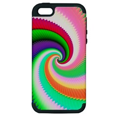 Colorful Spiral Dragon Scales   Apple Iphone 5 Hardshell Case (pc+silicone) by designworld65