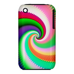 Colorful Spiral Dragon Scales   Apple Iphone 3g/3gs Hardshell Case (pc+silicone) by designworld65